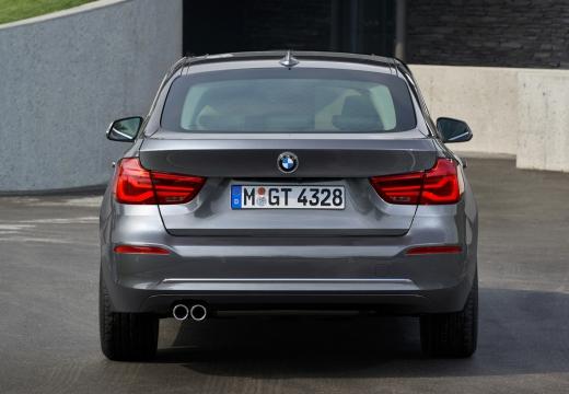 BMW Seria 3 Gran Turismo F34 II hatchback silver grey tylny