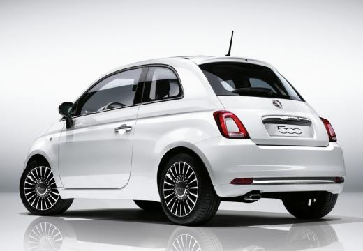 FIAT 500 hatchback biały tylny lewy