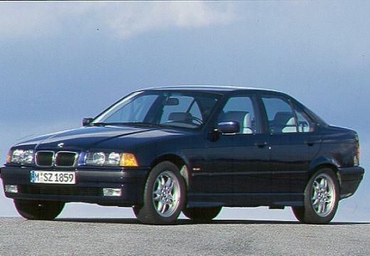 BMW Seria 3 E36 sedan czarny przedni lewy