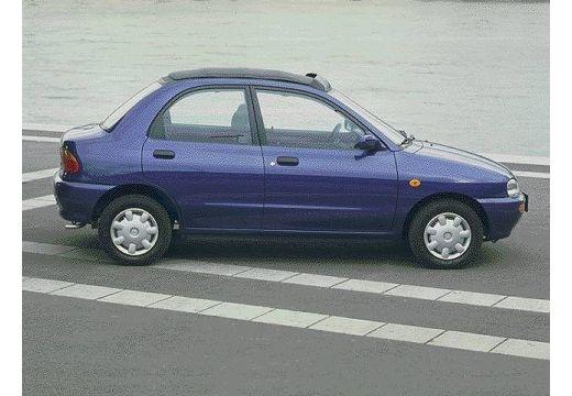 MAZDA 121 sedan niebieski jasny boczny prawy