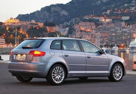 AUDI A3 Sportback I hatchback silver grey tylny prawy