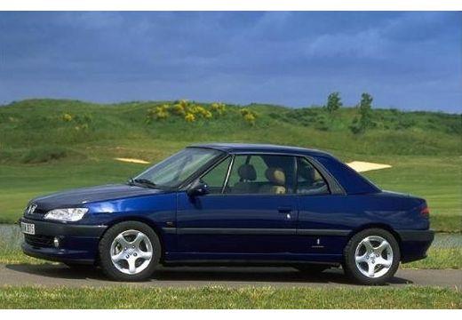 PEUGEOT 306 Cabrio I kabriolet niebieski jasny przedni lewy