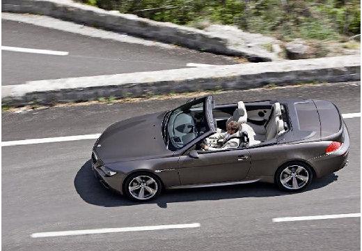BMW Seria 6 Cabriolet E64 I kabriolet szary ciemny boczny lewy