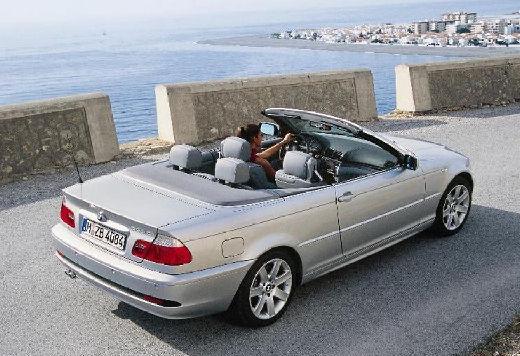 BMW Seria 3 kabriolet silver grey tylny prawy