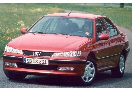 PEUGEOT 406 II sedan bordeaux (czerwony ciemny) przedni lewy