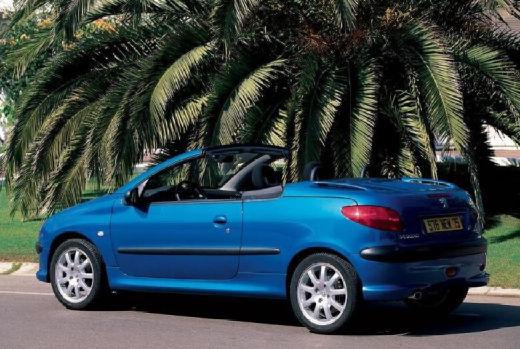 PEUGEOT 206 CC I kabriolet niebieski jasny tylny lewy