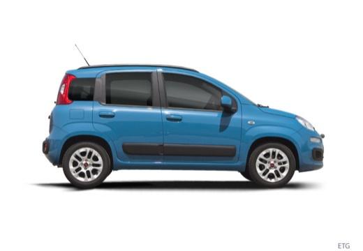 FIAT Panda III hatchback niebieski jasny boczny prawy