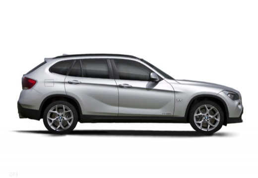 BMW X1 X 1 E84 I kombi silver grey boczny prawy