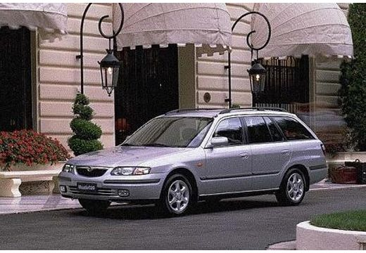 MAZDA 626 kombi silver grey przedni lewy