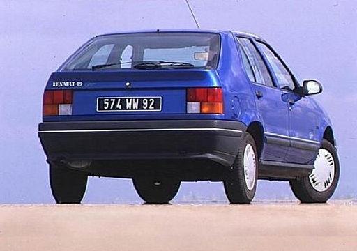 RENAULT R19 I hatchback niebieski jasny tylny prawy