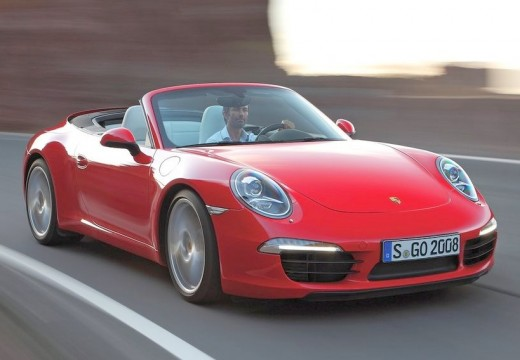 PORSCHE 911 kabriolet czerwony jasny przedni prawy