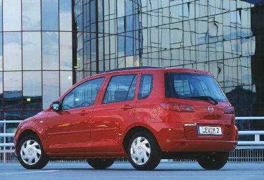 MAZDA 2 hatchback czerwony jasny tylny lewy