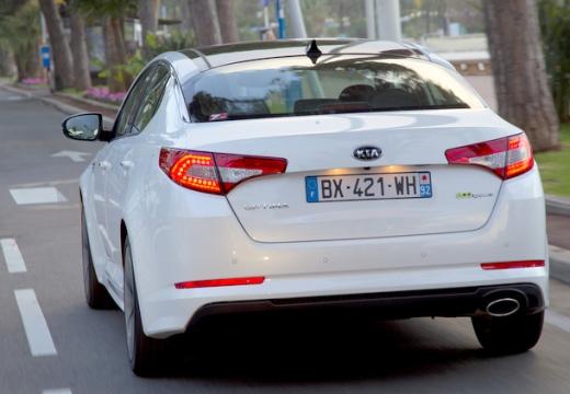 KIA Optima IV sedan biały tylny lewy