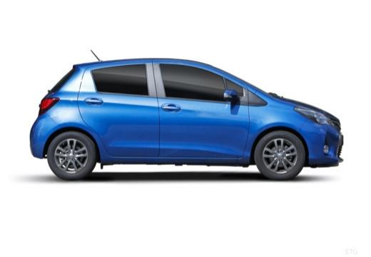 Toyota Yaris VI hatchback niebieski jasny boczny prawy