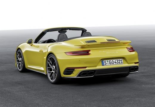PORSCHE 911 Cabrio 991 II kabriolet żółty tylny lewy