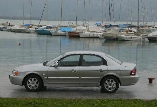 KIA Magentis sedan silver grey boczny lewy
