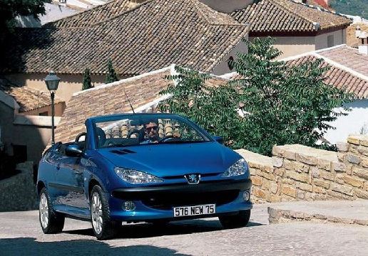 PEUGEOT 206 kabriolet niebieski jasny przedni prawy