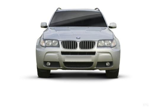 BMW X3 kombi silver grey przedni