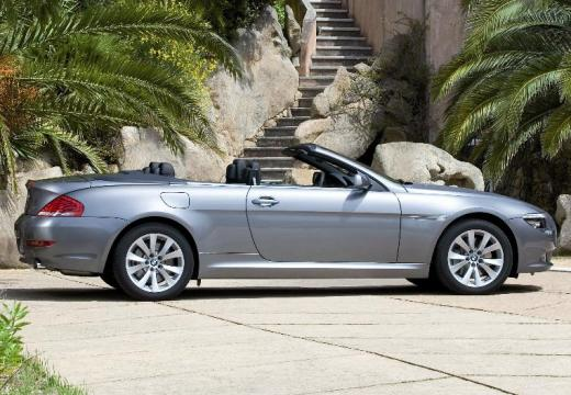 BMW Seria 6 Cabriolet E64 II kabriolet silver grey boczny prawy