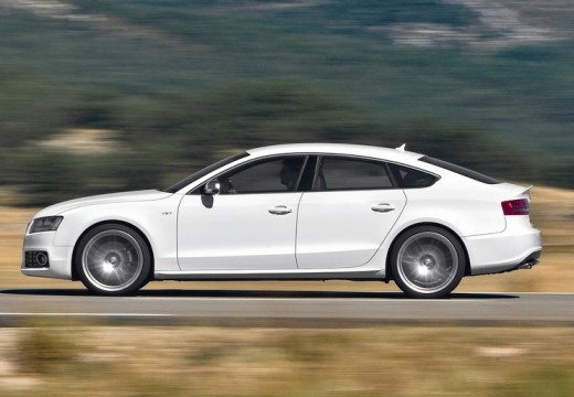 AUDI A5 Sportback I hatchback biały boczny lewy