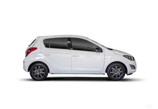 HYUNDAI i20 II hatchback biały boczny prawy