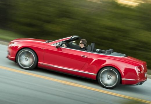 BENTLEY Continental GTC II kabriolet czerwony jasny boczny lewy