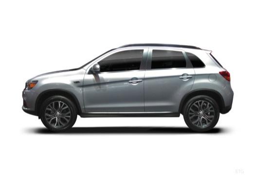 MITSUBISHI ASX hatchback silver grey boczny lewy