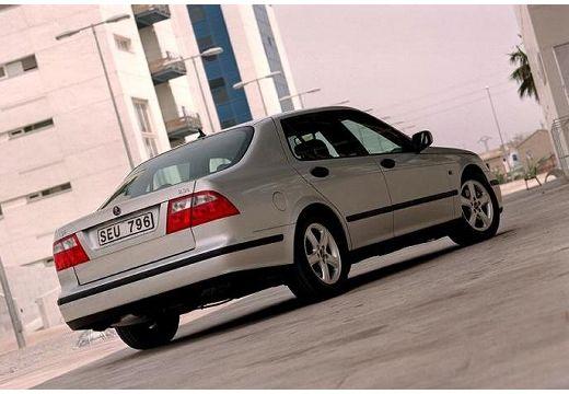SAAB 9-5 II sedan silver grey tylny prawy