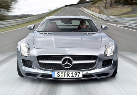 MERCEDES-BENZ SLS coupe silver grey przedni