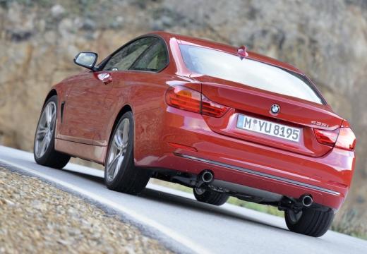 BMW Seria 4 F32 coupe czerwony jasny tylny lewy