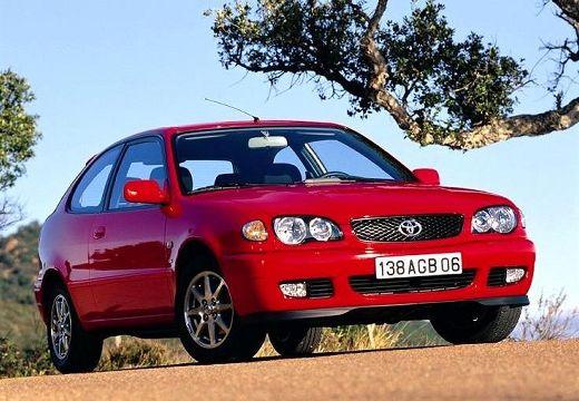 Toyota Corolla V hatchback czerwony jasny przedni prawy