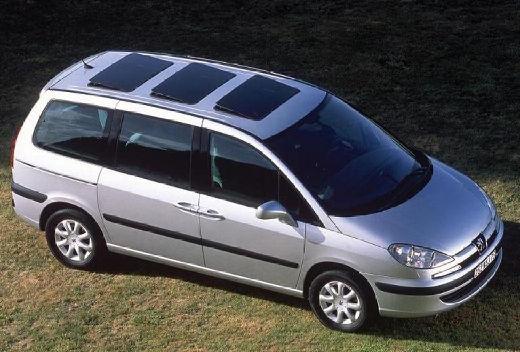 PEUGEOT 807 I van silver grey przedni prawy