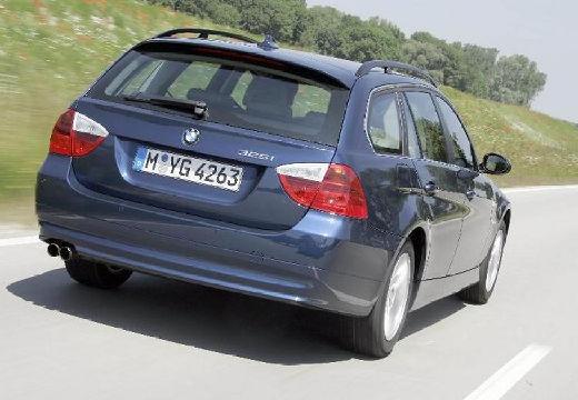 BMW Seria 3 Touring E91 I kombi niebieski jasny tylny prawy