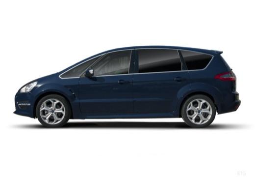 FORD S-MAX II van niebieski jasny boczny lewy
