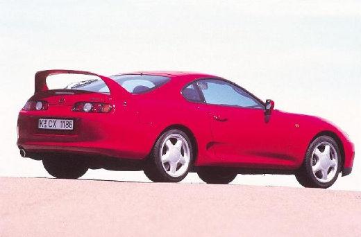 Toyota Supra coupe czerwony jasny tylny prawy