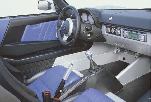OPEL Speedster roadster silver grey wnętrze