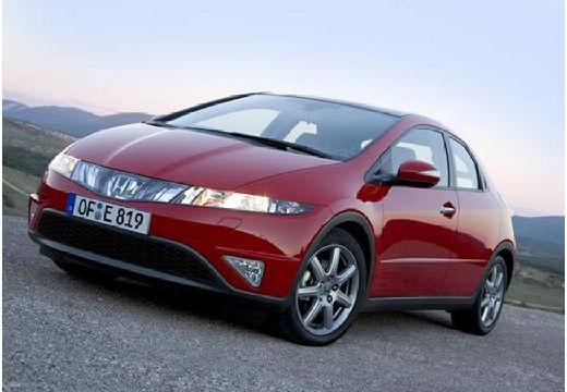 HONDA Civic hatchback czerwony jasny przedni lewy