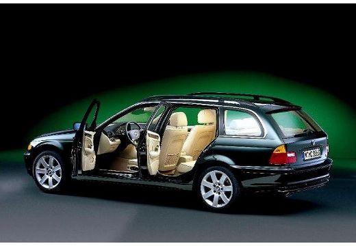 BMW Seria 3 kombi czarny tylny lewy
