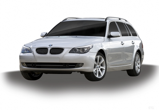BMW Seria 5 Touring E61 II kombi silver grey