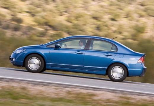 HONDA Civic sedan niebieski jasny boczny lewy