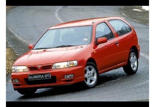 NISSAN Almera hatchback czerwony jasny przedni lewy