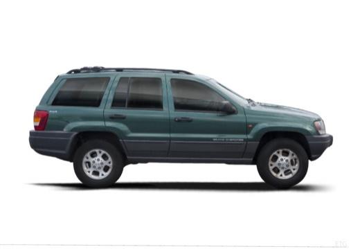 JEEP Grand Cherokee II kombi zielony boczny prawy