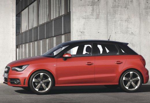 AUDI A1 hatchback czerwony jasny przedni lewy
