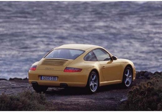 PORSCHE 911 coupe żółty tylny prawy