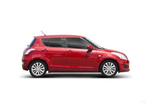 SUZUKI Swift III hatchback czerwony jasny boczny prawy