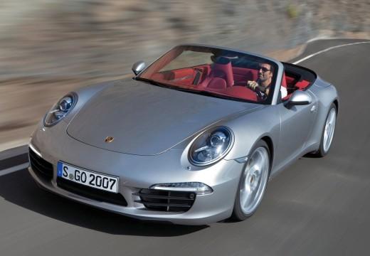 PORSCHE 911 kabriolet silver grey przedni lewy