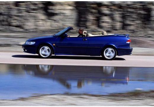 SAAB 9-3 Cabriolet I kabriolet niebieski jasny boczny lewy