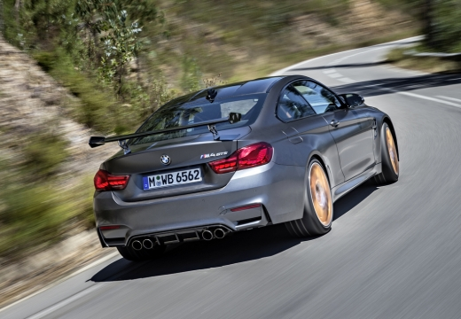 BMW Seria 4 F32 coupe szary ciemny tylny prawy