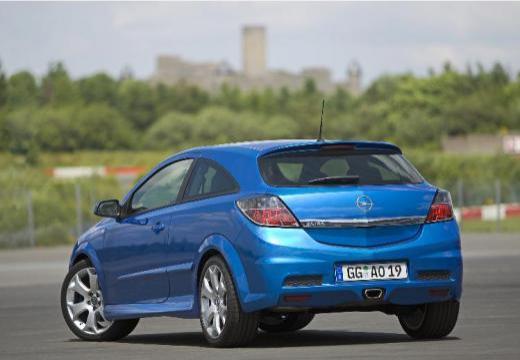 OPEL Astra III GTC II hatchback niebieski jasny tylny lewy