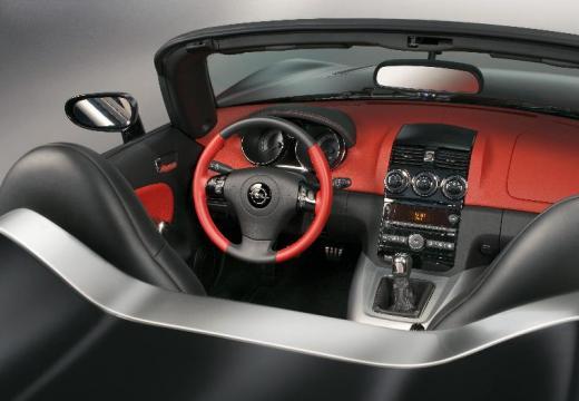 OPEL GT roadster czarny wnętrze